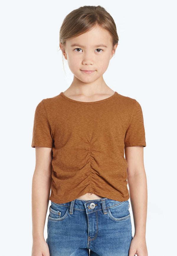 Gathered Cropped Top