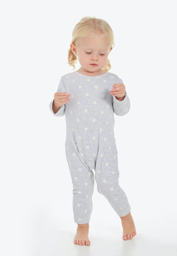 Gen Woo Baby Girls Grey Strap Print Baby-grow from The Jersey Shop Singapore