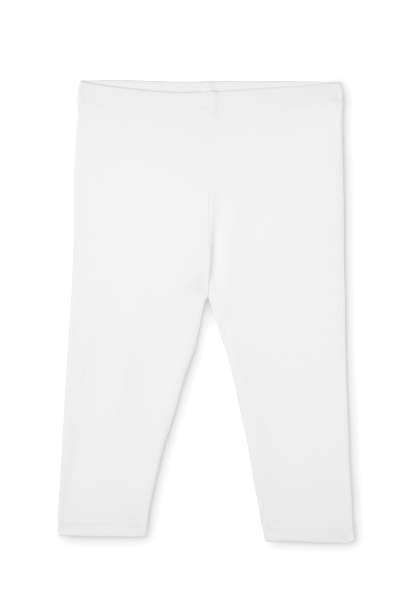 Gen Woo Baby Girl White Basic Legging for The Jersey Shop Singapore