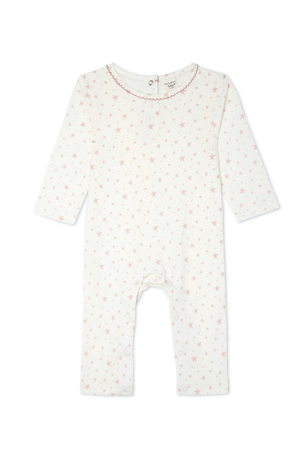 Gen Woo baby Girls Pink Star Print Baby-grow from The jersey Shop Singapore