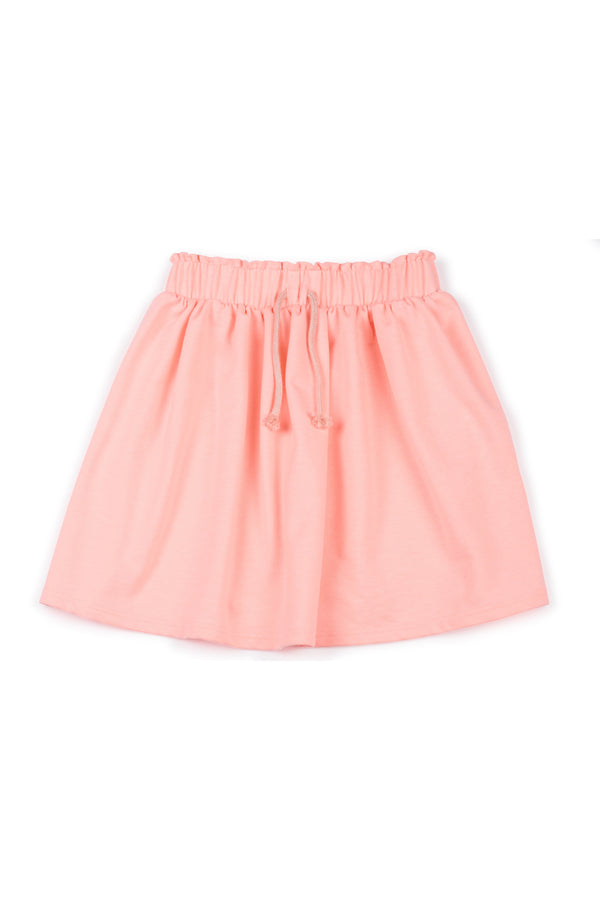 Gen Woo Girls Neon Pink Drawstring Skirt from The Jersey Shop Singapore