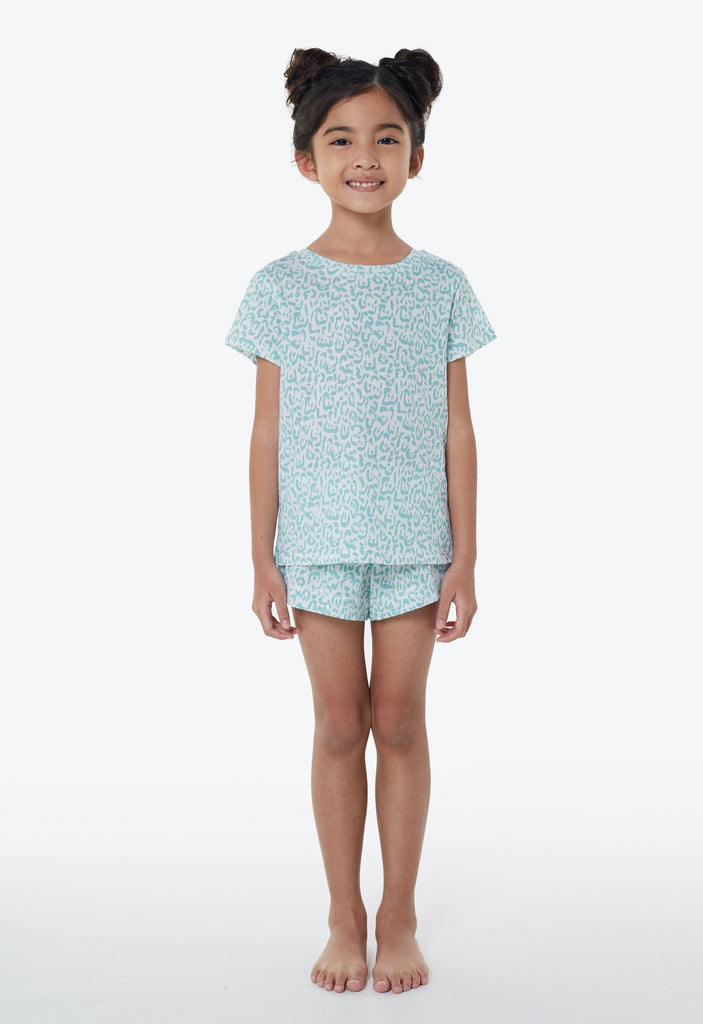 Pastel Animal print PJ set by Gen Woo for the jersey shop singapore