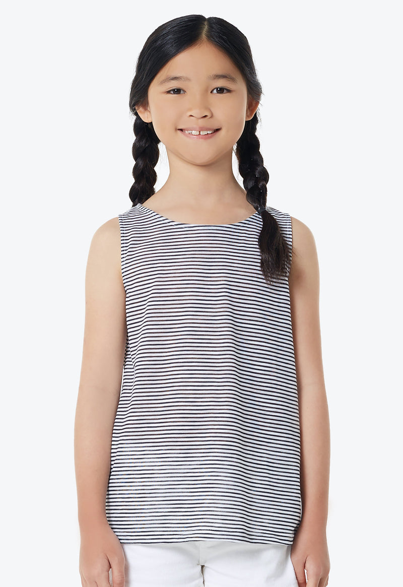 Gen Woo Girls Striped Vest from Gen Woo