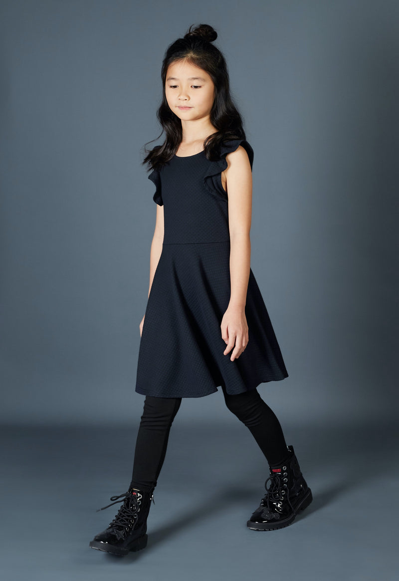 Gen Woo Girls Navy Skater Dress from The Jersey Shop Singapore