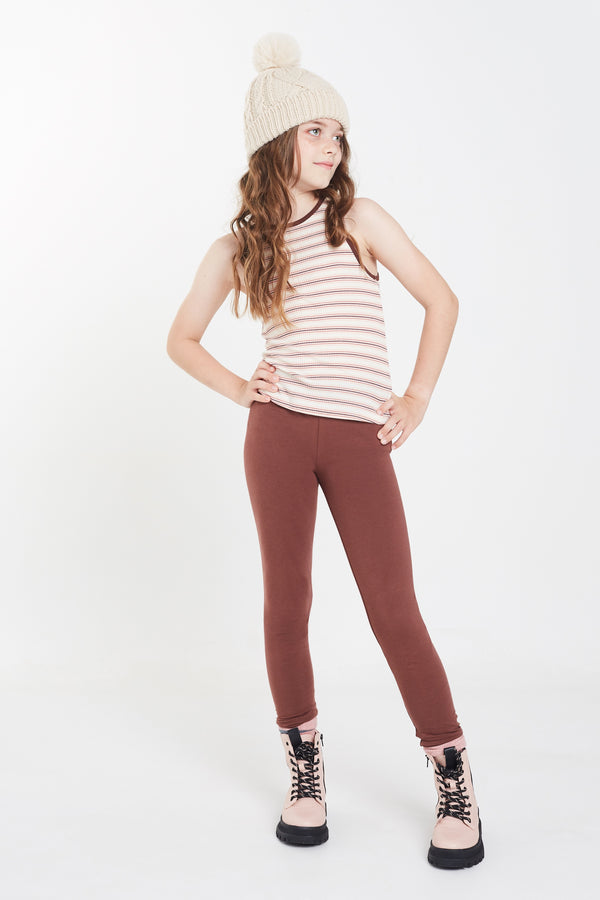 Gen Woo tween Girls Stripe Ribbed Vest from The Jersey Shop Singapore