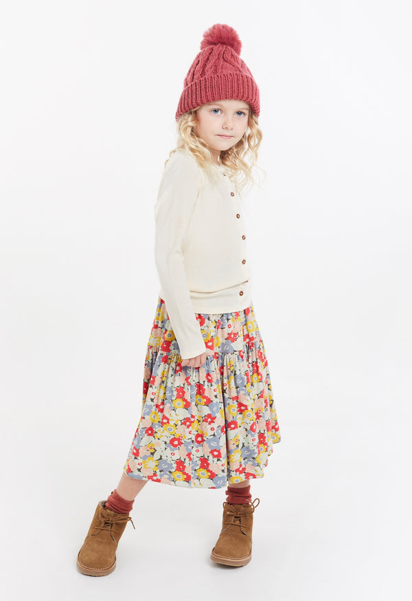 Gen Woo Girls Floral Print Tiered Skirt for The Jersey Shop Singapore