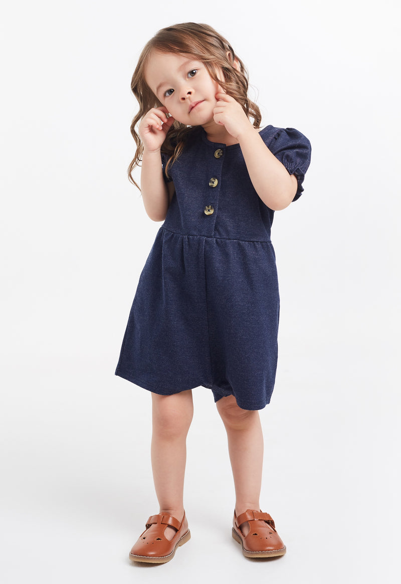 Gen Woo Baby Girl Denim Romper with Placket for The Jersey Shop Singapore