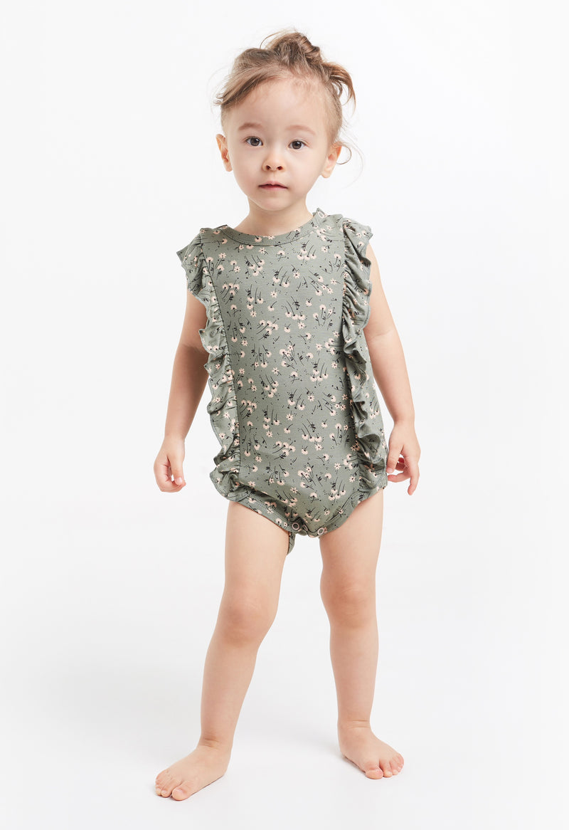 Gen Woo Baby Girls Ditsy Print Frill Baby-grow for The Jersey Shop Singapore