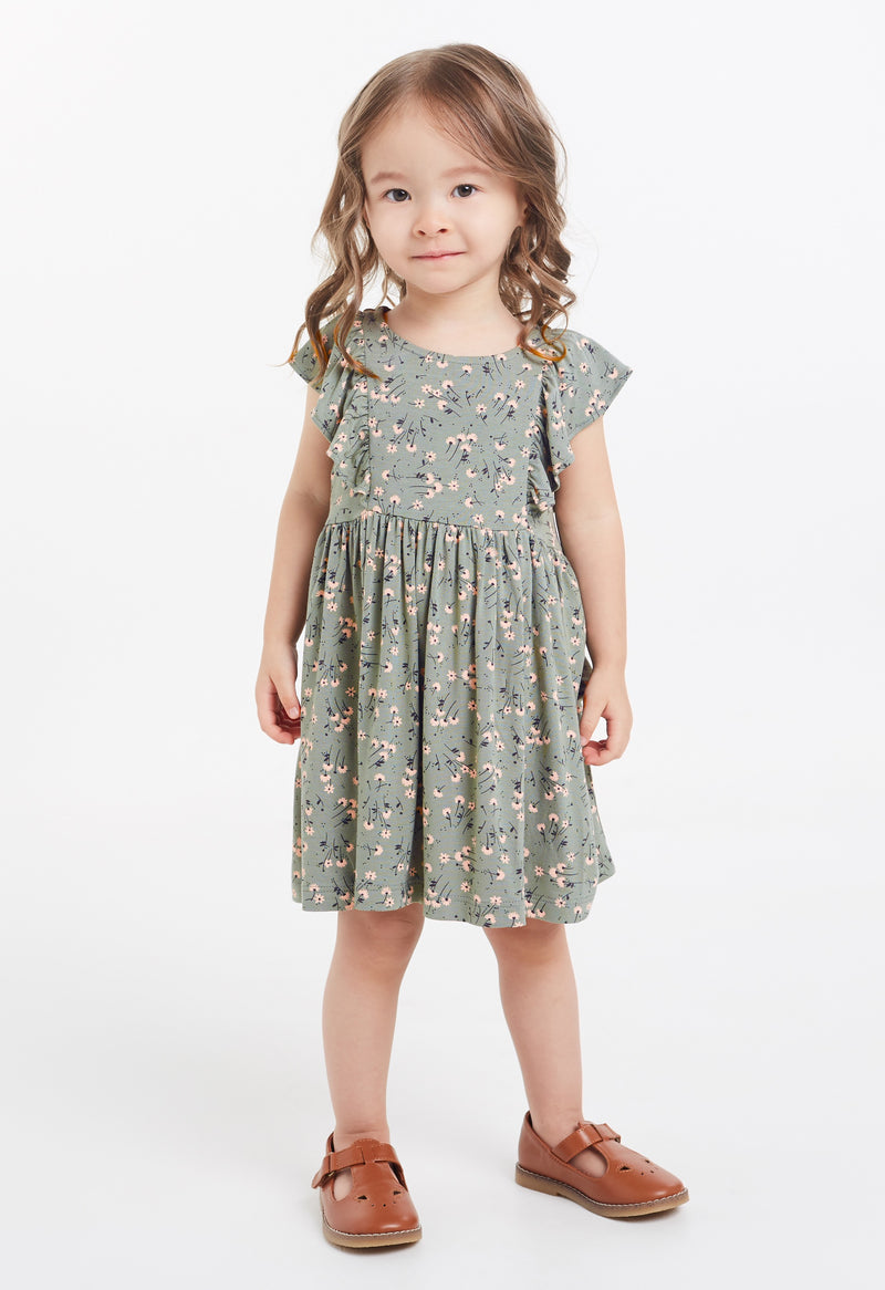 Gen Woo Baby Girls Ditsy Print Flutter Dress for The Jersey Shop Singapore