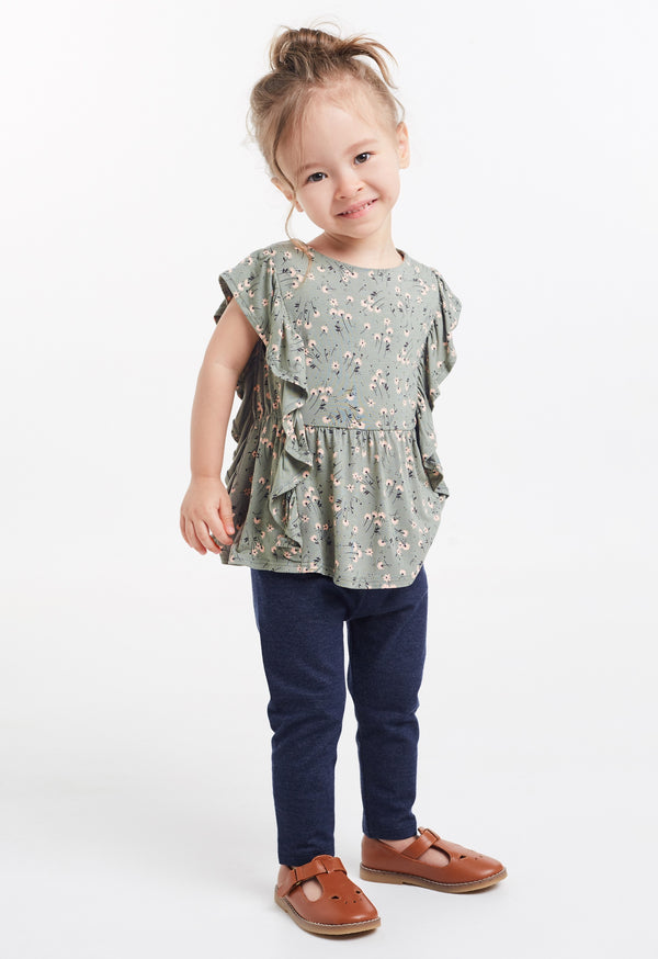 Gen Woo Baby Girls Ditsy Print Flutter T-shirt for The Jersey Shop Singapore