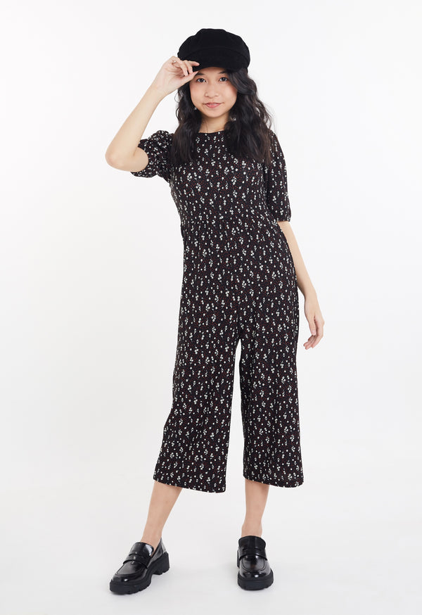 Gern Woo Tween Girls Ditsy Print Jumpsuit from The Jersey Shop Singapore