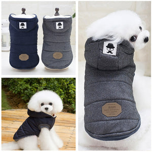 Warm Winter Dog Clothes With Hood