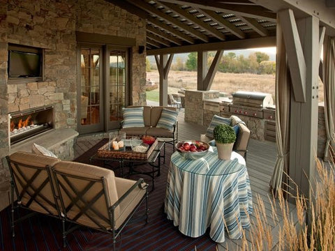 Rugs And Decorative Items. Bring The Indoors Out With Lamps, Tables And  Potted Plants And Decorative Throw Pillows. Select Light Fabrics And Woods,  ...