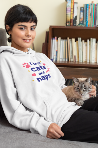 I love cats and naps hoodie