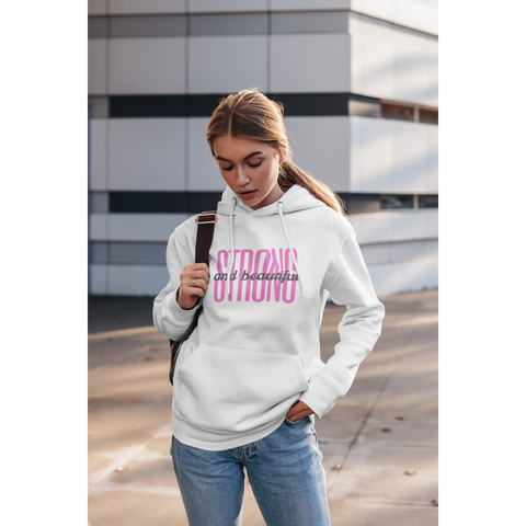 Strong and Beautiful Hoodie by Kreamy Couture