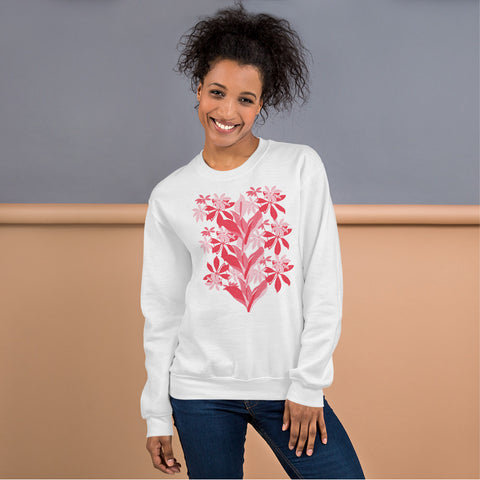 Flower Designed Sweatshirt by Kreamy Couture