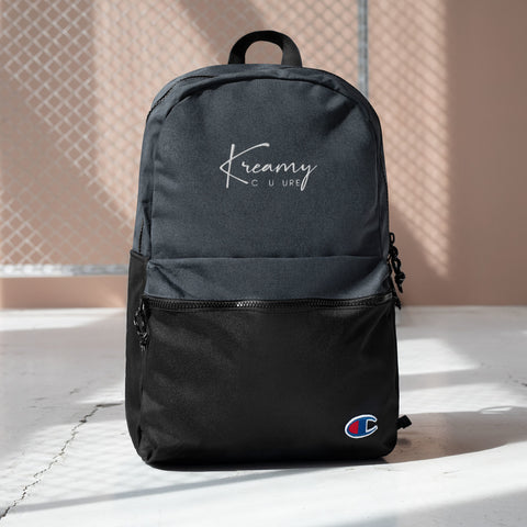 Kreamy Couture Embroidered Champion Backpack