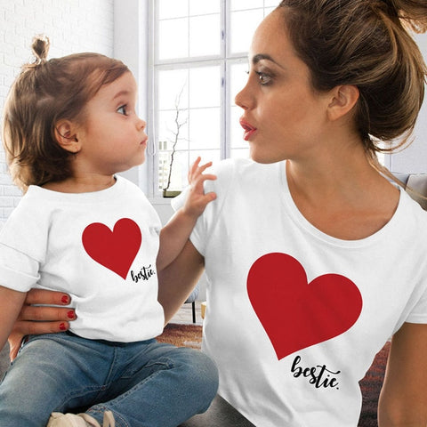 The Bestie Heart Printed T-Shirt