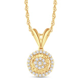 10KT-0.11CTW PENDANT - White Carat Diamonds