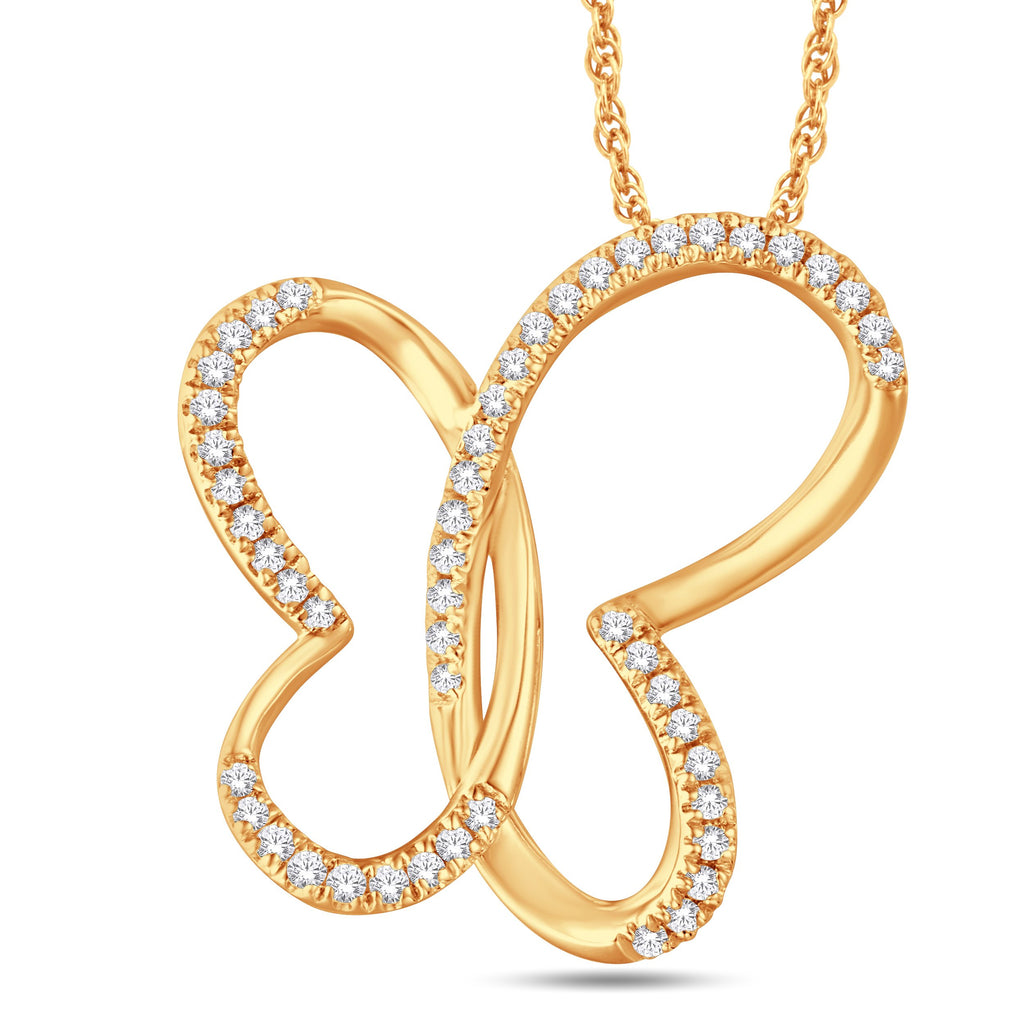 10KT-0.16CTW PENDANT - White Carat Diamonds