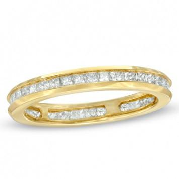 1.00 CT. Diamond Channel Set Band in Yellow Gold - White Carat - USA & Canada