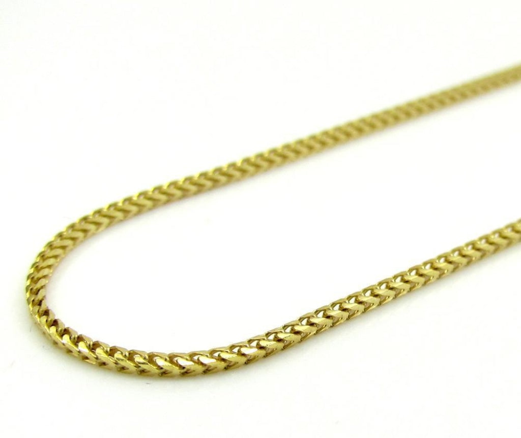 10K Gold Solid Franco Chain - 2mm - White Carat Diamonds
