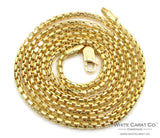 10K Gold Venetian Box Chain - 2.0 mm - White Carat - USA & Canada