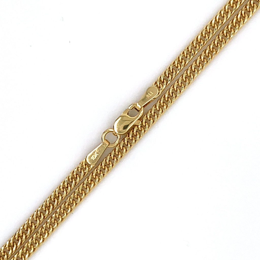 10K Gold Cuban Chain - 2mm - White Carat Diamonds