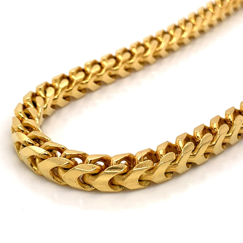 10K Gold Franco Chain (Regular)- 8mm - White Carat Diamonds