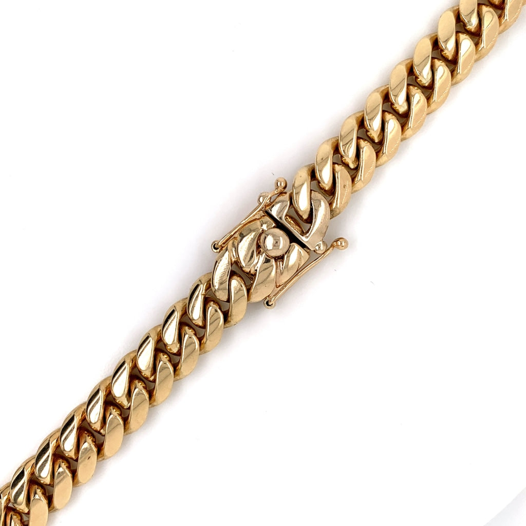 10K Gold Solid Miami Cuban Chain - 17mm - White Carat Diamonds
