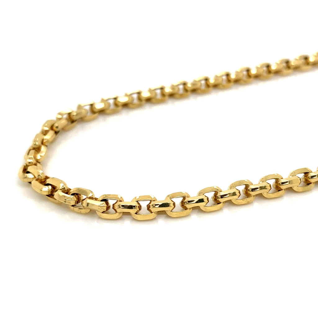 10K Gold Rolo Chain - 2mm - White Carat Diamonds
