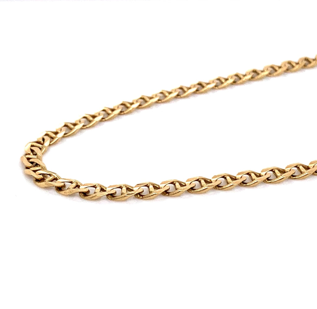 10K Gold Mariner Link Chain (Regular) - 4mm - White Carat Diamonds