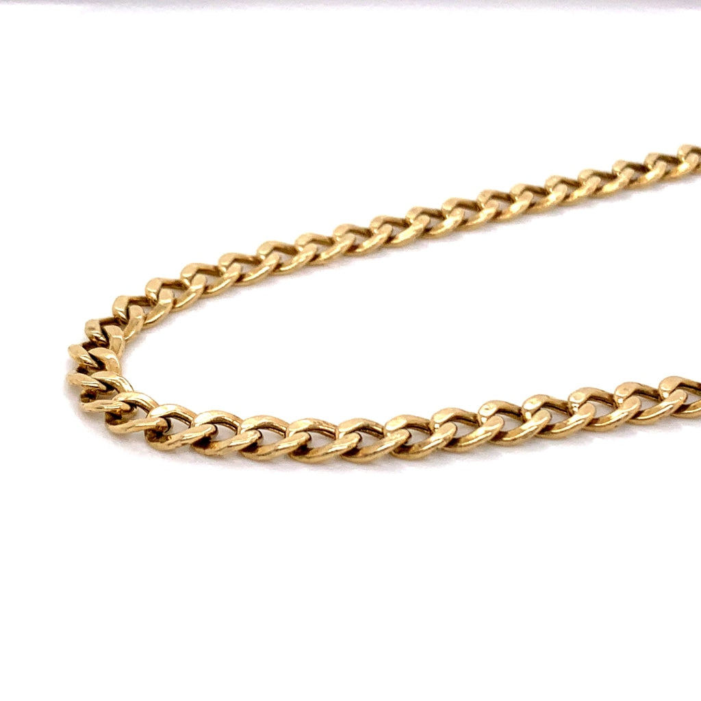 10K Gold Semi-Solid Cuban Chain - 7mm - White Carat Diamonds