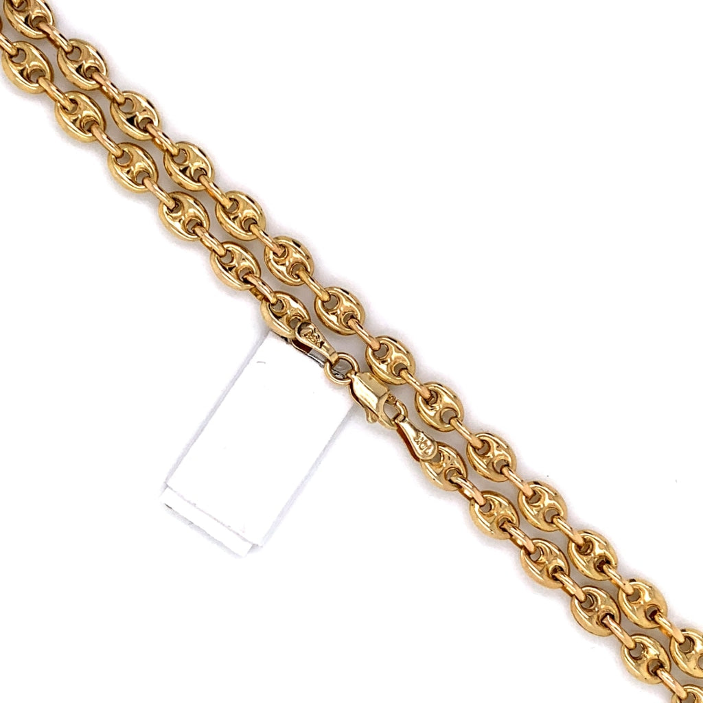 10K Gold Semi-Solid Puff Mariner Link Chain - 7mm - White Carat Diamonds
