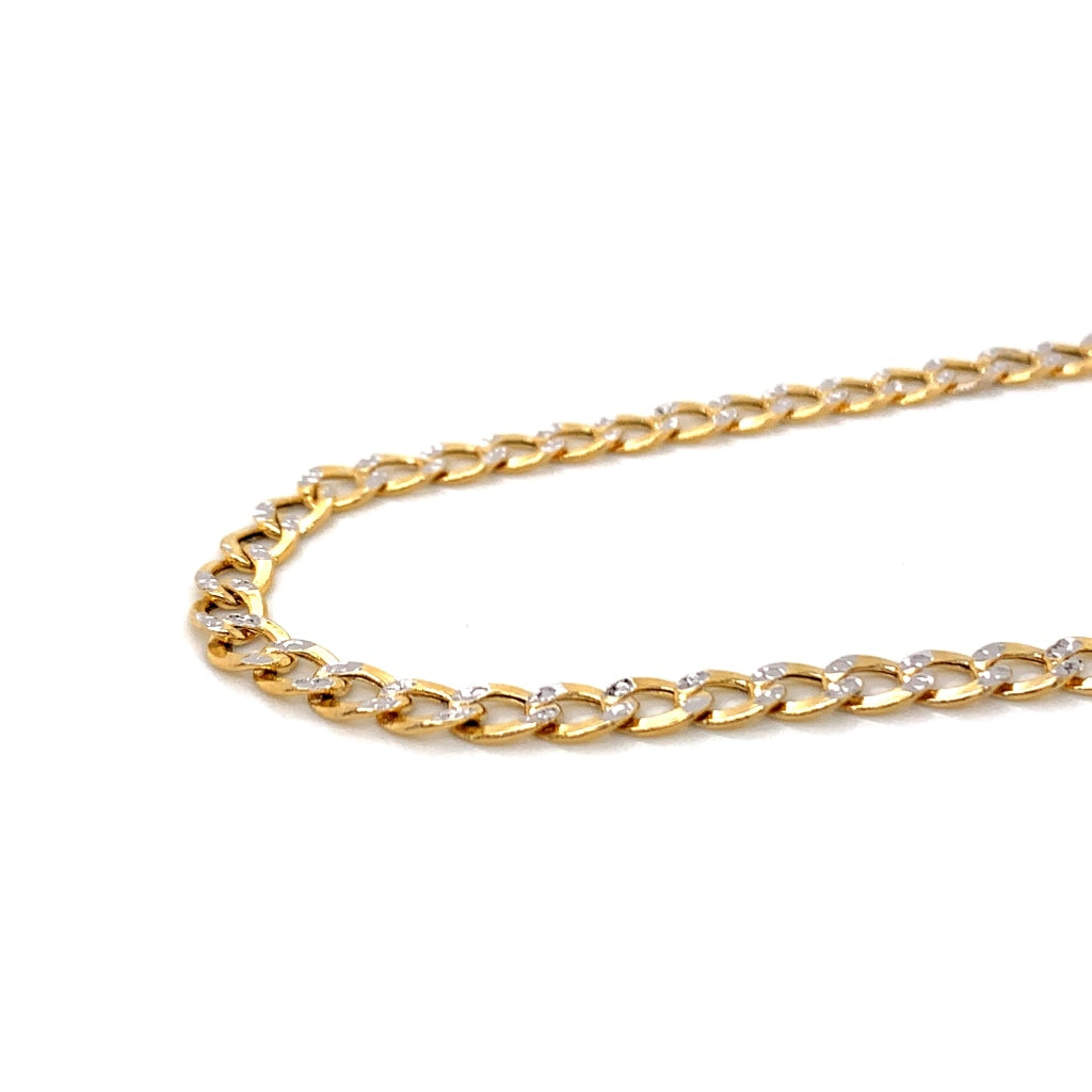 10K Gold Semi-Solid Diamond Cut Cuban Chain - 4.5mm - White Carat Diamonds