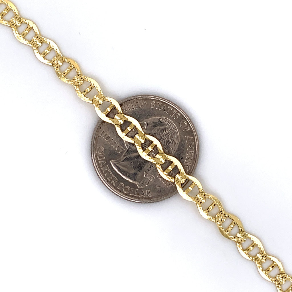 10K Gold Mariner Link Chain - 4mm - White Carat Diamonds