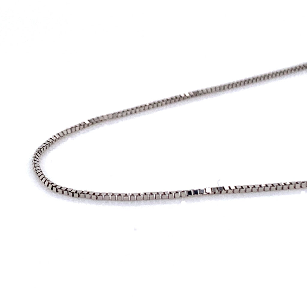 10K Gold Semi-Solid Box Chain - 1mm - White Carat Diamonds