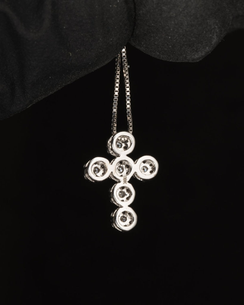 0.21 CT. Ladies Diamond Cross Pendant in 10K Gold