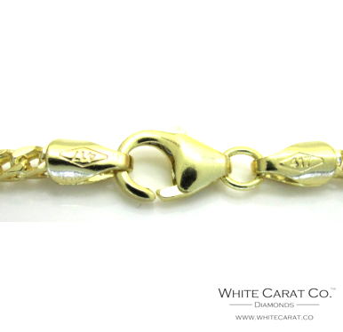 10K Gold Solid Franco Chain - 2.0 mm - White Carat Diamonds