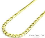14K Gold Curb/Cuban Link Chain - 5mm - White Carat Diamonds