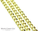 10K Semi-Solid Cuban Link Chain - 2mm - White Carat Diamonds