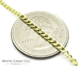 14K Gold Curb/Cuban Link Chain - 2mm - White Carat Diamonds