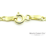 10K Hollow Cuban Link Gold Chain (FOR A SMALL BABY) - 2.0 mm - White Carat Diamonds
