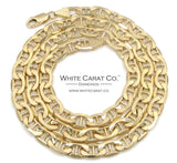 10K Gold Puffed Mariner Link Chain - 7.5 mm - White Carat Diamonds