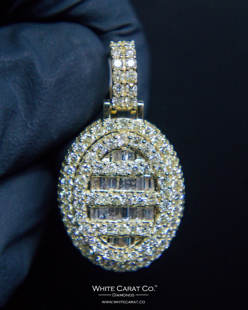"3.00 CT. ""Circle Diamond"" Pendant in 10K Gold*"