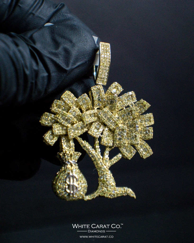 "3.25 CT. ""Money Tree"" Pendant in 10K Gold* - White Carat - USA & Canada"