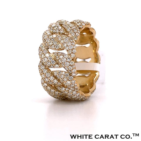 3.25 CT. Diamond Cuban Ring in Gold - White Carat - USA & Canada