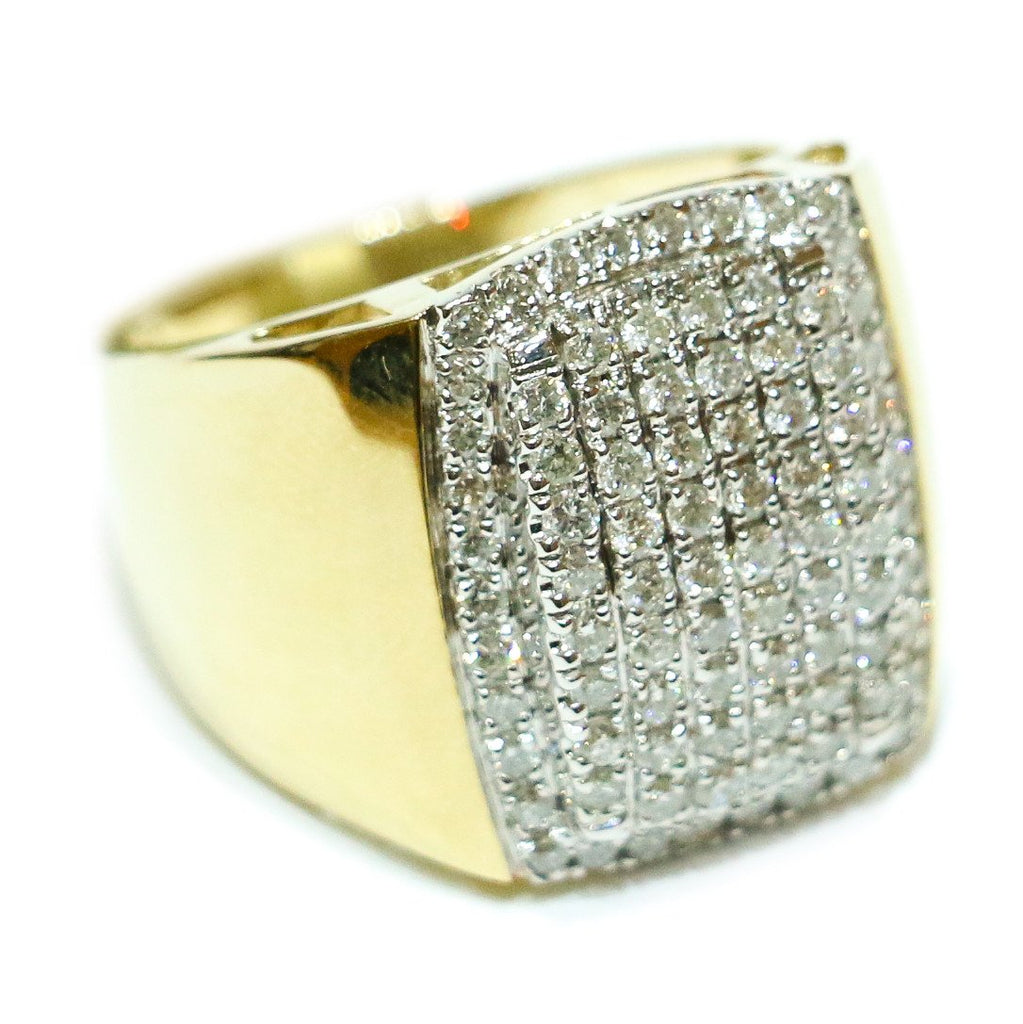 1.41 CT. Convex Diamond Ring in 10K Yellow Gold - White Carat Diamonds