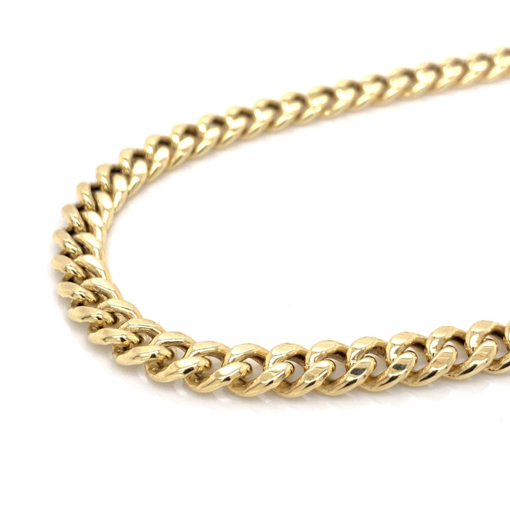 10K Gold Miami Cuban Chain (Regular) - 7mm - White Carat Diamonds