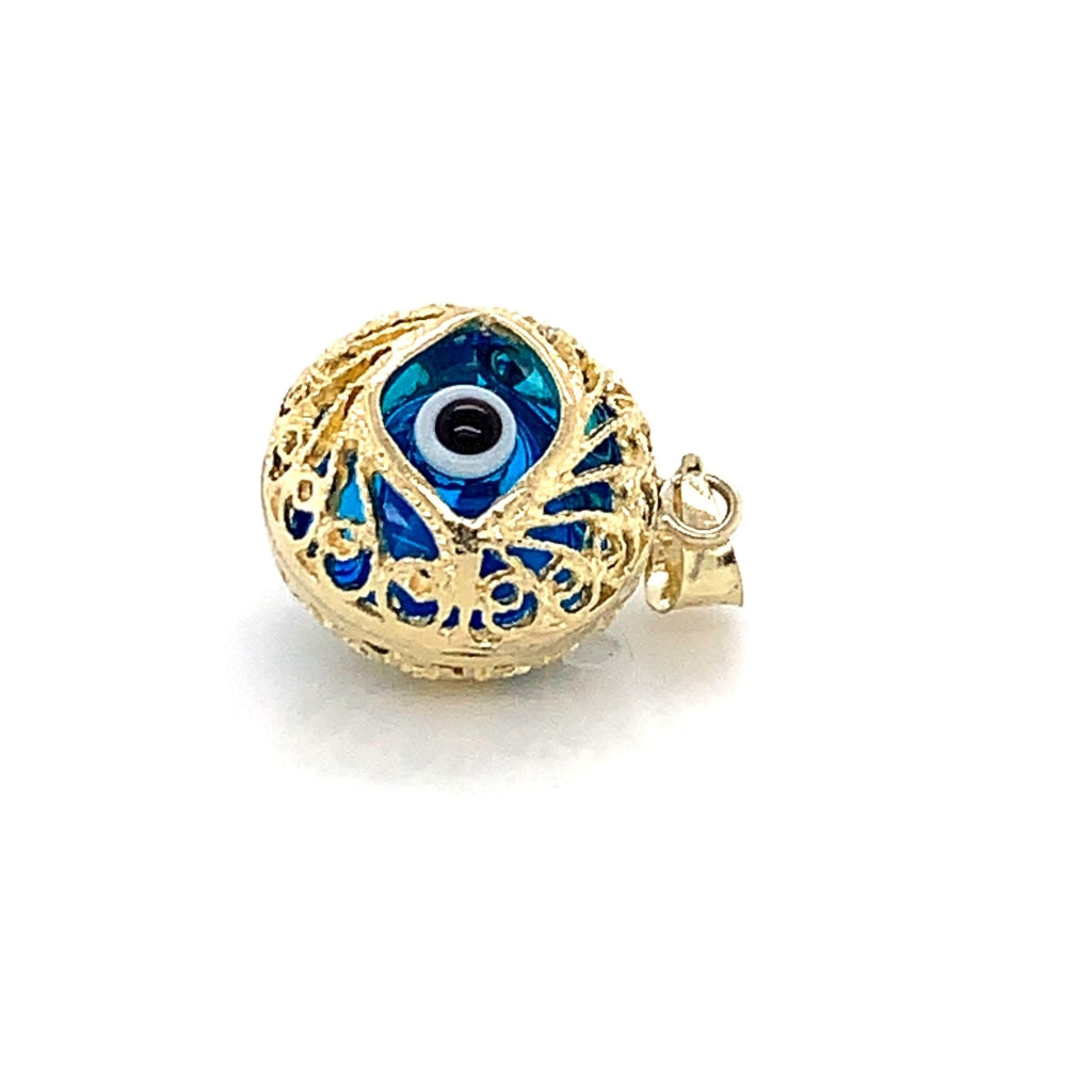 10K Yellow Gold Evil Eye Pendant